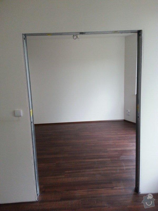 Montáž příčky s posuvnými dveřmi: 20140831_105811