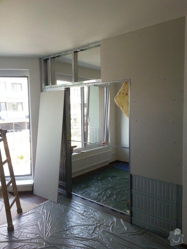 Montáž příčky s posuvnými dveřmi: 20140825_134644