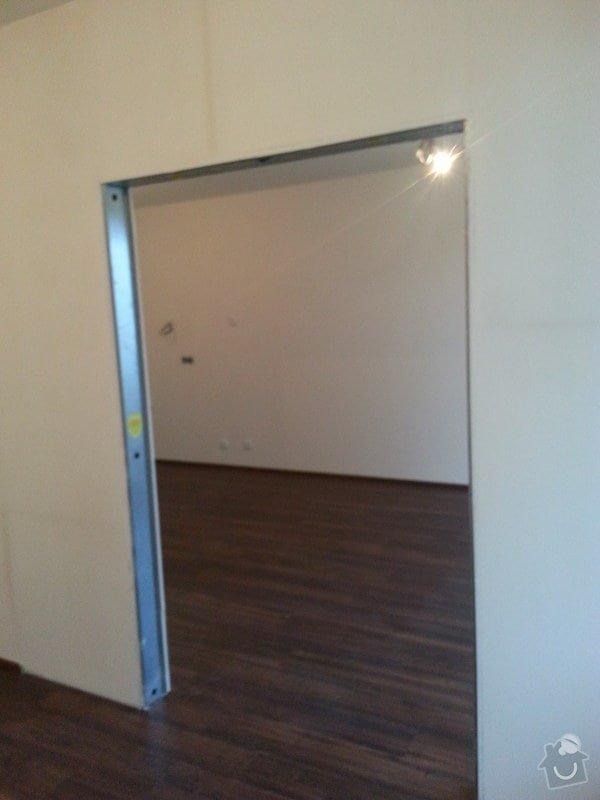 Montáž příčky s posuvnými dveřmi: 20140826_184508