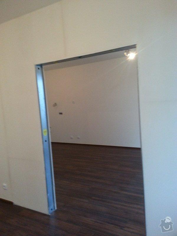 Montáž příčky s posuvnými dveřmi: 20140826_184514