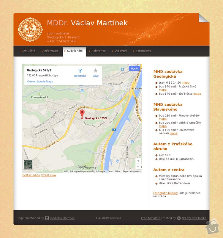 Tvorba webových stránek: map.html