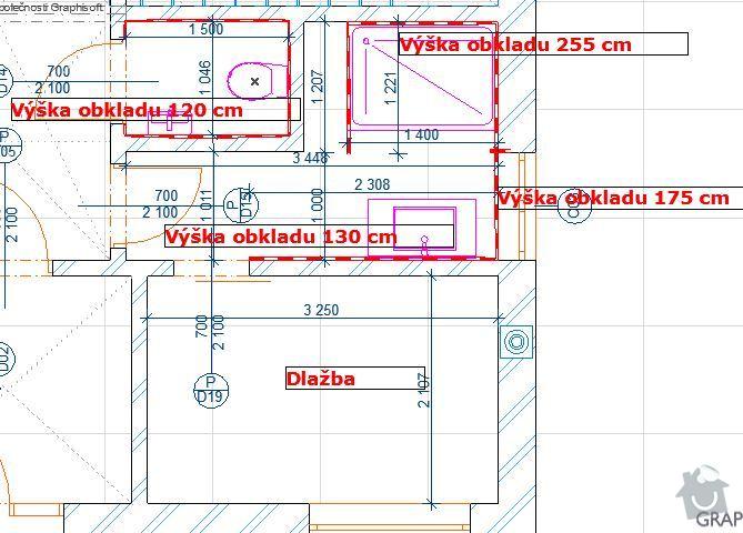 Zhotovení obkladů a dlažeb v novostavbě RD: Obklady_1NP