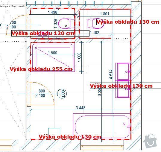 Zhotovení obkladů a dlažeb v novostavbě RD: Obklady_2NP