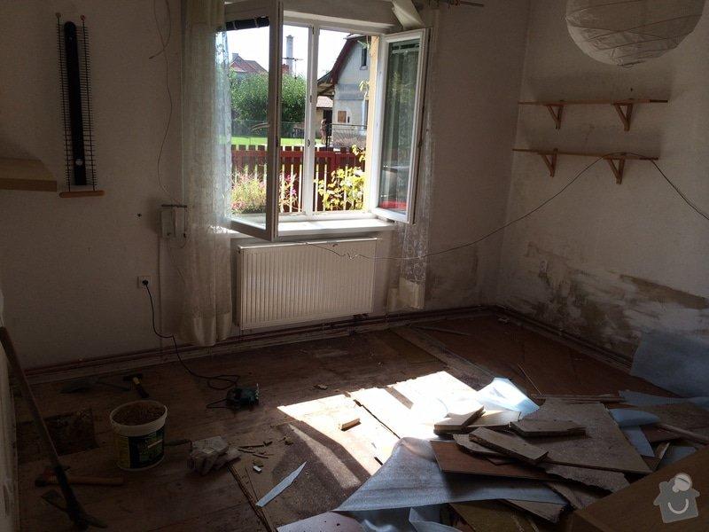 Zednické práce - výroba podlahy: a