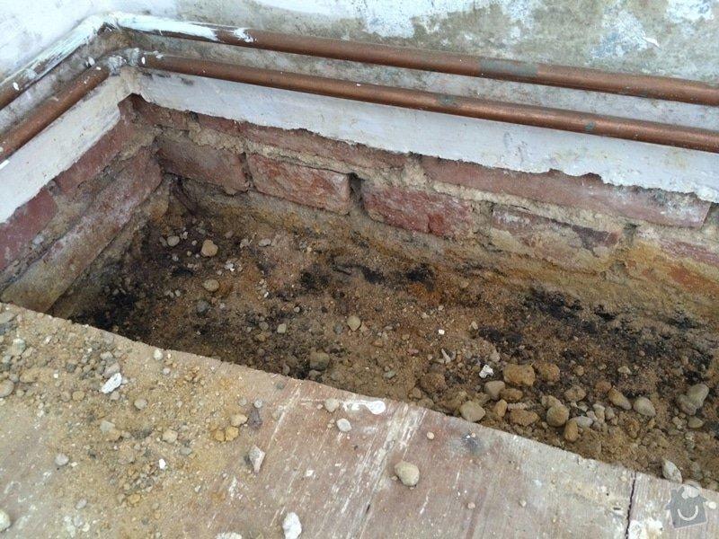 Zednické práce - výroba podlahy: 4