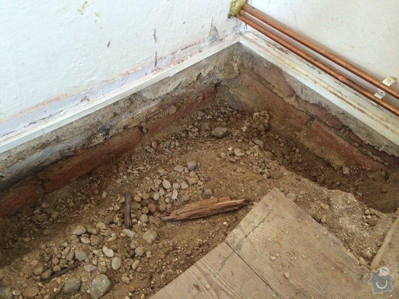 Zednické práce - výroba podlahy: 3