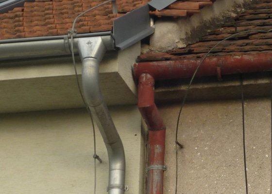 Klempířské práce ve výšce, oplechování štítu pouze 0,5 metru