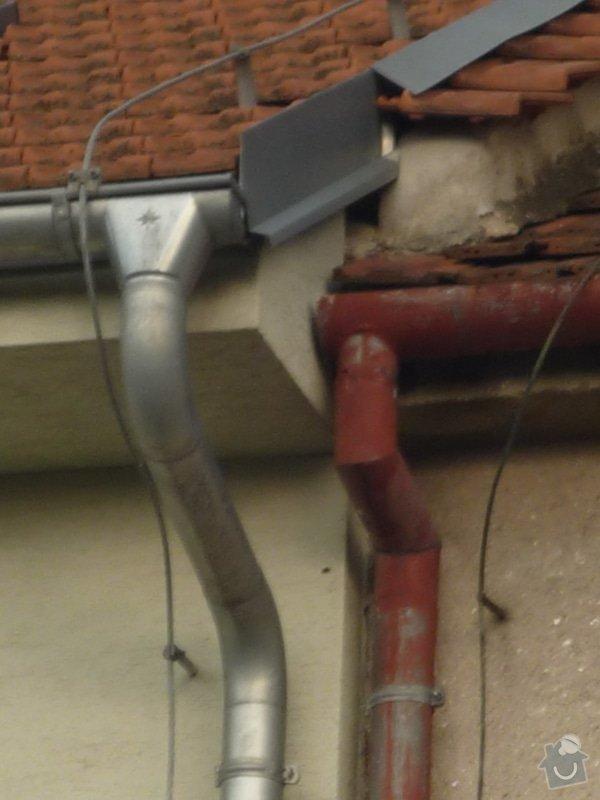 Klempířské práce ve výšce, oplechování štítu pouze 0,5 metru: P1160510