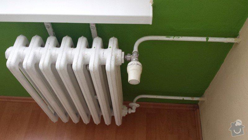 Výměna 2 radiátorů: Loznice