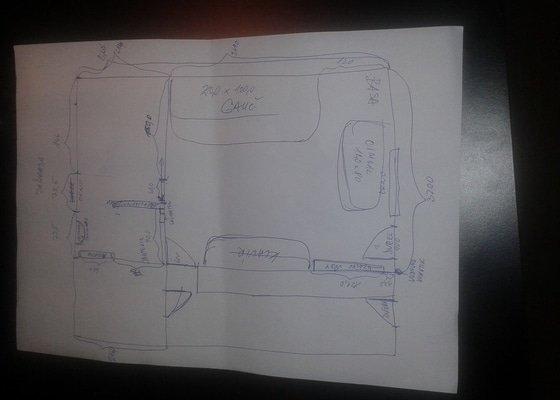 Projekt/vizualizace na přestavbu garáže na obytnou místnost
