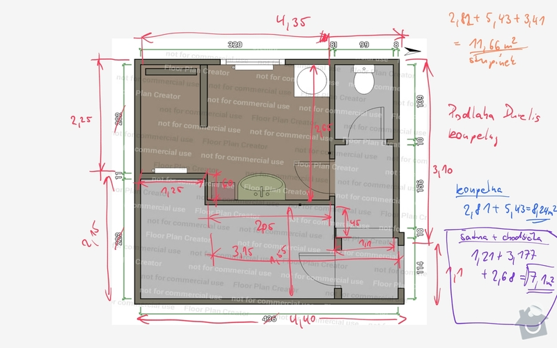 Obložení koupelny a sprchového koutu včetně hydroizolace - podlaha 8 m2 + stěny: Koupelna_-_hneda_podlaha_