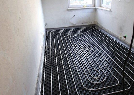 Podlahové topení v bytě