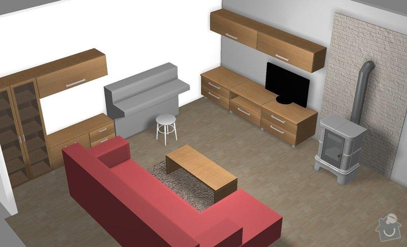 Návrh nábytku do obývacího pokoje včetně realizace: FINAL3