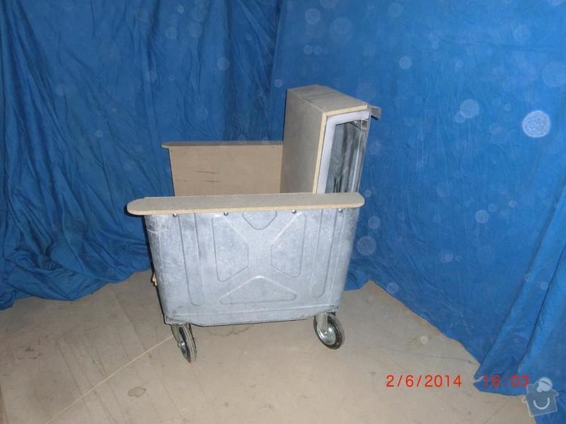 Čalounické práce - očalounení atypické sedačky z kontejnéru: CIMG3687