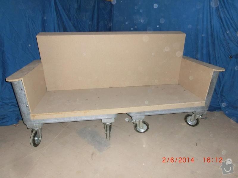 Čalounické práce - očalounení atypické sedačky z kontejnéru: CIMG3690