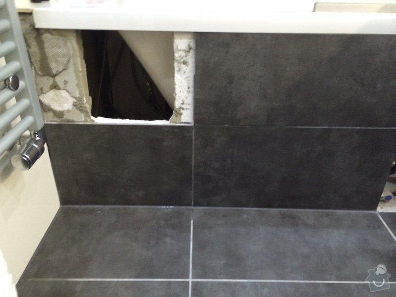 Doplnění obkladu v koupelně: obrazek
