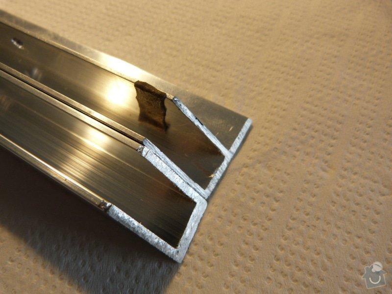 Řezání/broušení hliníkových profilů - pokos 45°: P1030372