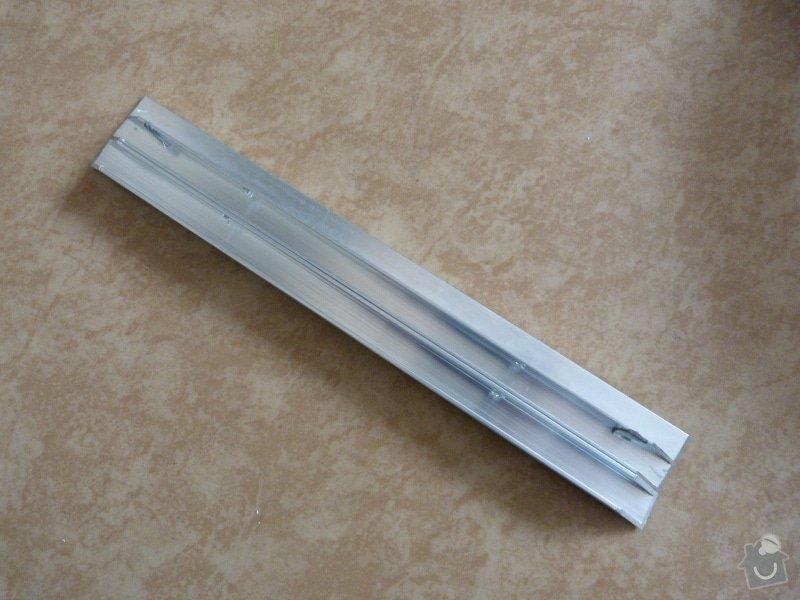Řezání/broušení hliníkových profilů - pokos 45°: P1030373