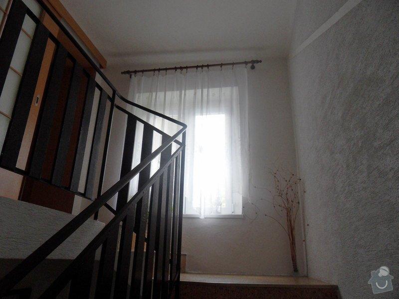 Malířské práce, zednické opravy, alespoň hrubý úklid (chodbička přízemí, chodba schody - 2. patrová, záchod, koupelna, stěna v obývacím pokoji): chodba_schodiste