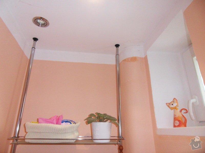 Malířské práce, zednické opravy, alespoň hrubý úklid (chodbička přízemí, chodba schody - 2. patrová, záchod, koupelna, stěna v obývacím pokoji): zachod
