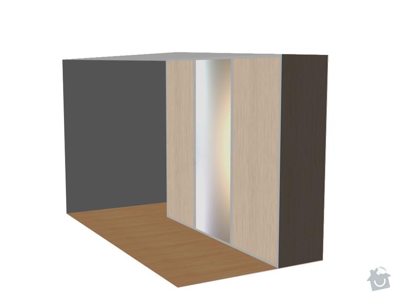 Vestavěná skříň 380 x 250 cm do ložnice: N_dvere_zrcadlo