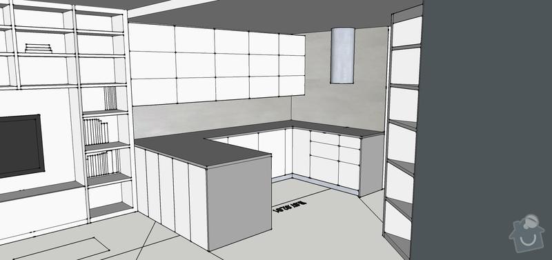 Malba stěrkou oicos travertino: Vizualizace_kuchyne