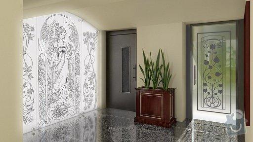 Nástřik výtahových dveří: Londynska_Chodba_cam_04_V03