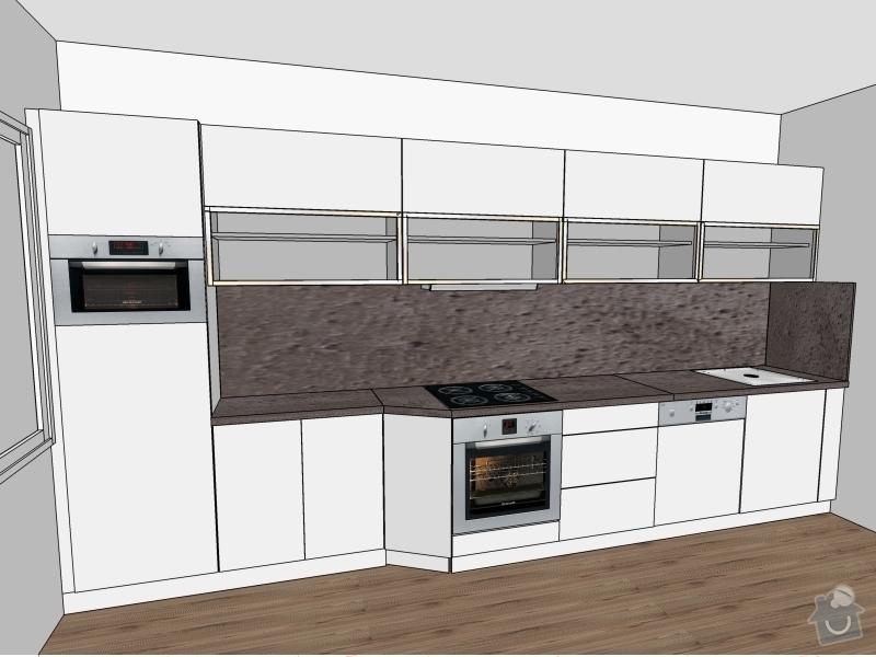 Kuchyně vč spotřebičů, 3D návrh: Fialova-Kuchyne_3