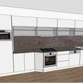 Kuchyne vc spotrebicu 3d navrh fialova kuchyne 3