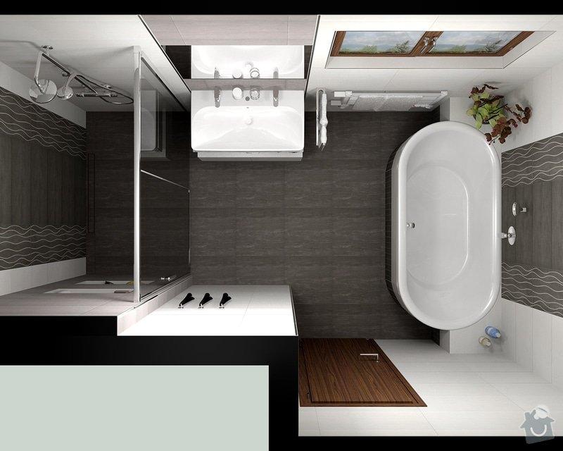 Oblozeni koupelny + 2 WC: Gazarek_koupelna_pohled_1