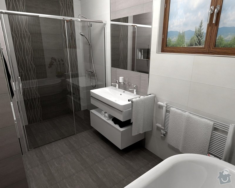 Oblozeni koupelny + 2 WC: Gazarek_koupelna_pohled_2