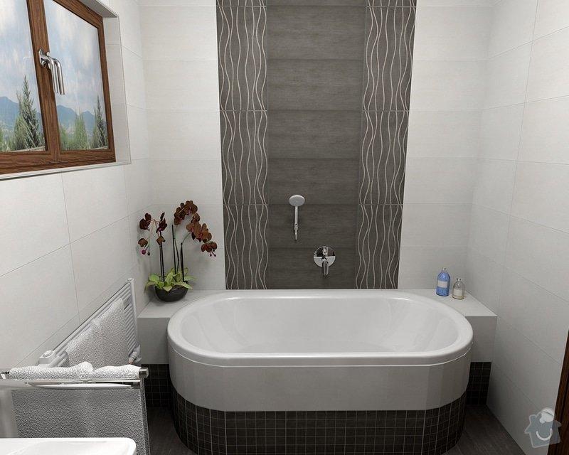 Oblozeni koupelny + 2 WC: Gazarek_koupelna_pohled_3