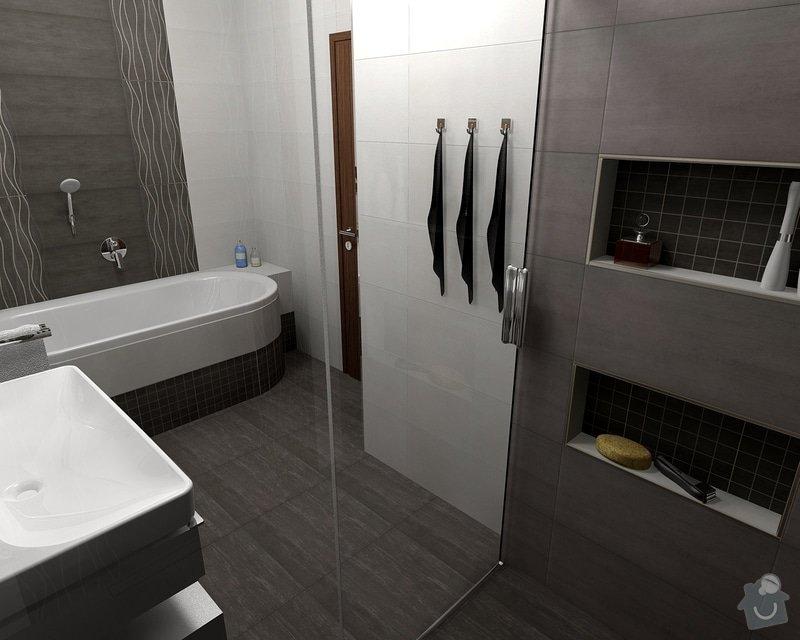 Oblozeni koupelny + 2 WC: Gazarek_koupelna_pohled_4