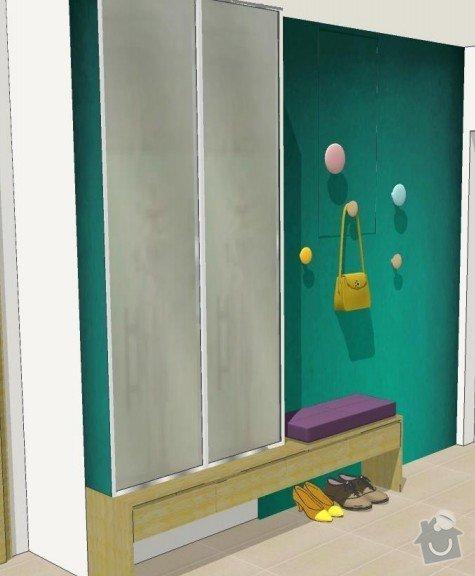 Skříň do chodby + stěna obývacího pokoje: chodba1
