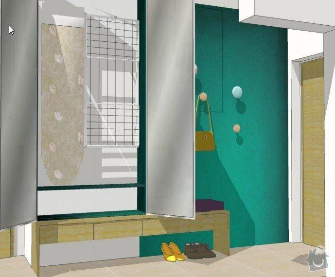 Skříň do chodby + stěna obývacího pokoje: chodba2