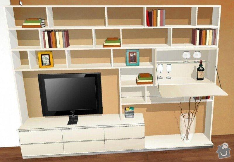 Skříň do chodby + stěna obývacího pokoje: obyvaci_pokoj2