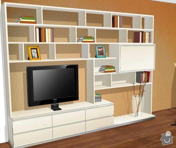 Skříň do chodby + stěna obývacího pokoje: obyvaci_pokoj1