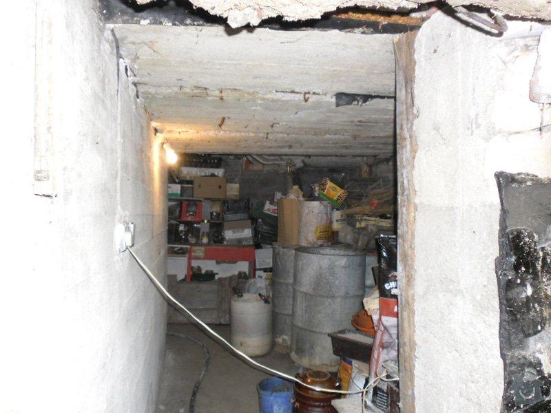 Rekonstrukce sklepních prostor při RD,částečně zapuš. v terénu: predni_sklep_strop_terasa