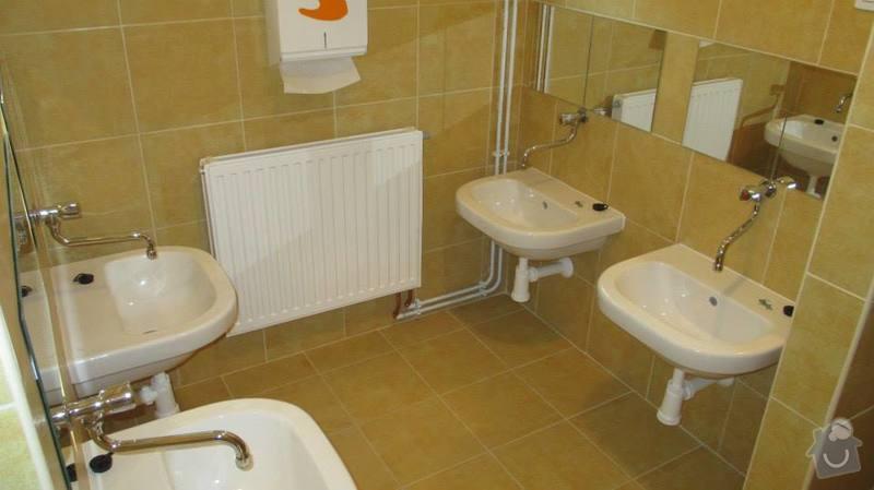 Rekonstrukce objektu MŠ Bludovice: koupelnicka