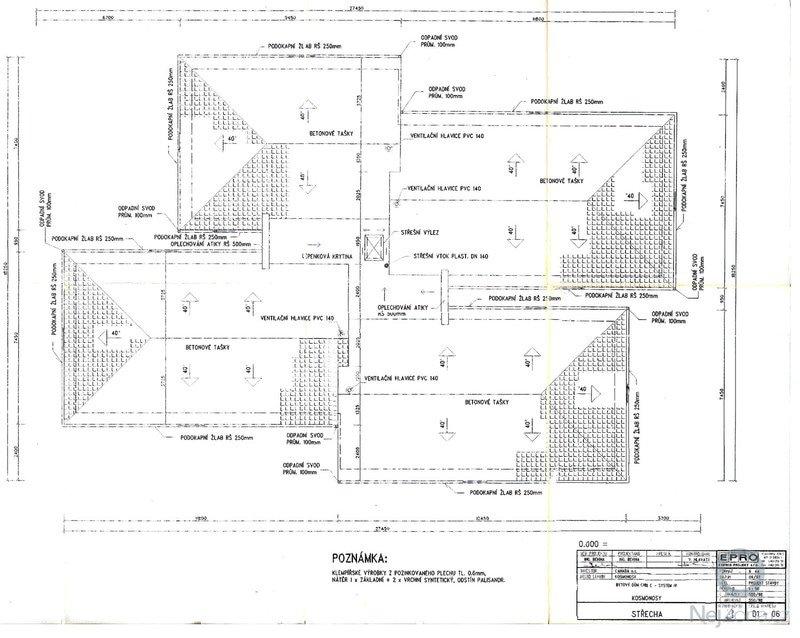 Rekonstrukce 4 valbových střech 339m2: strecha