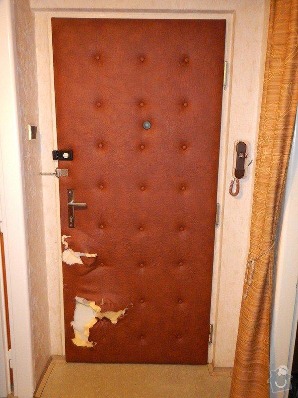 Nové polstrování vstupních dveří - oprava: DSCN1862