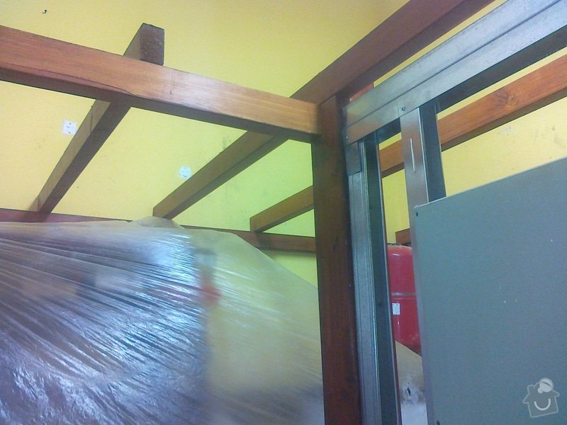 Sádrokartonový strop + příčka cca 20m2: 110920141607