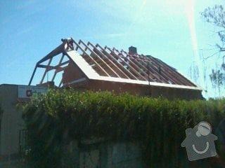 Realizace střechy na klíč včetně demoličních prací na RD v Suchdole: 011