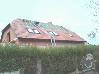 Realizace střechy na klíč včetně demoličních prací na RD v Suchdole: 026