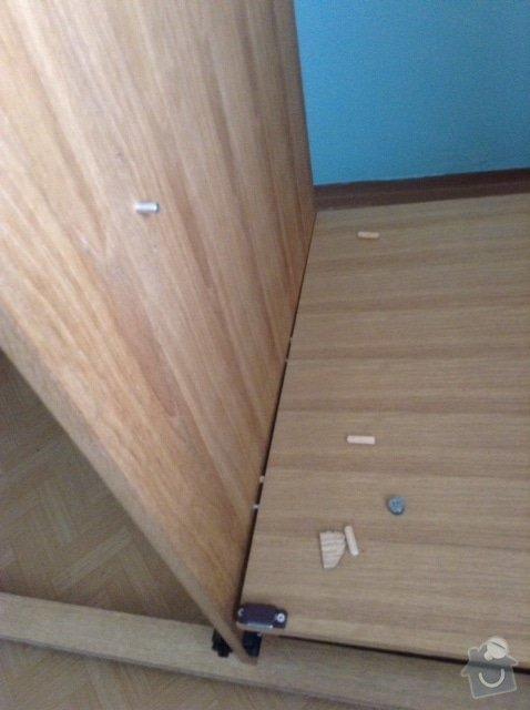 Opravu rozlámané skříně, původně z JYSK: skrinobrazek_5