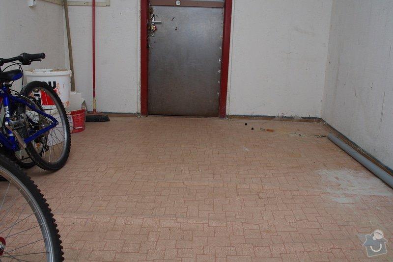 Pokládka dlažby v technické místnosti: IMGP9083
