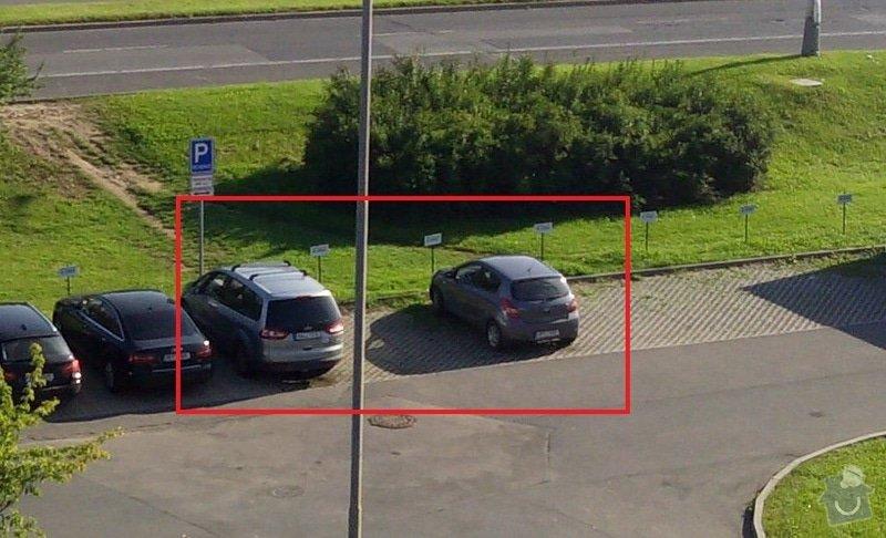 Oprava parkoviště - položení zámkové dlažby: 02