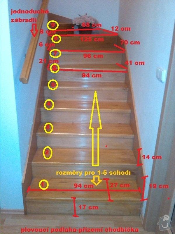 Renovace (oprava) starých schodů: 1