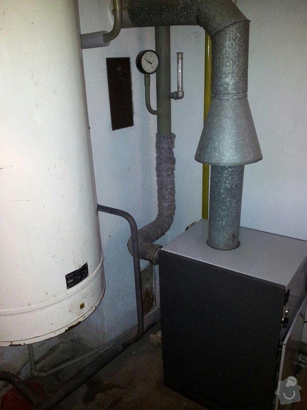 Vyměna plynového kotle a bojleru za kondenzačníkotel se zásobníkem teplé vody: kotelna