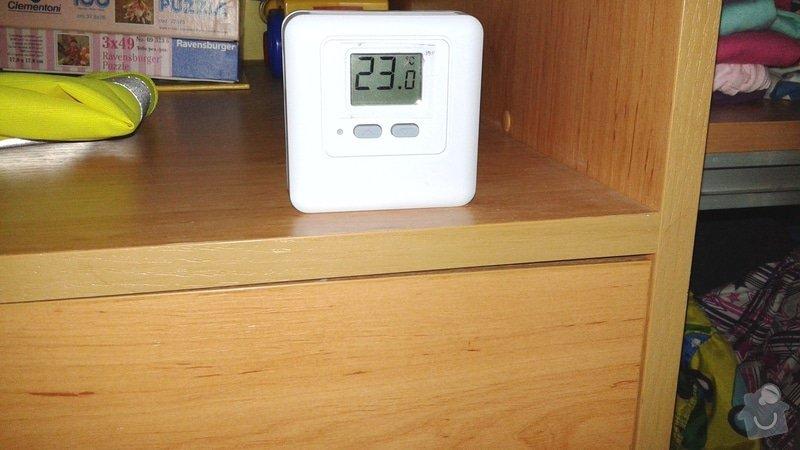 Nastavení a seřízení systému topení v domě: termostat_patro